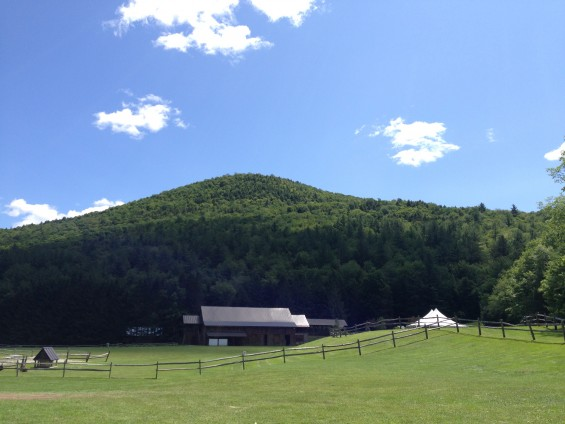 The mountain viewed from Riverside Farm